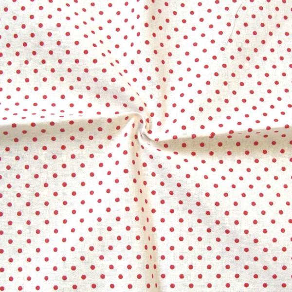 100 baumwolle leicht stoffe tupfen klein weiss rot breite 140cm stoff meterware ebay. Black Bedroom Furniture Sets. Home Design Ideas