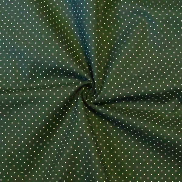 100 baumwolle stoff hemden qualit t tupfen muster mini tannen gr n 147cm breit ebay. Black Bedroom Furniture Sets. Home Design Ideas