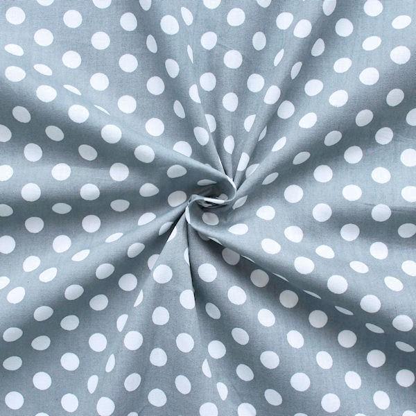 100 baumwolle leicht stoffe tupfen mittel grau breite 140cm stoff meterware neu ebay. Black Bedroom Furniture Sets. Home Design Ideas