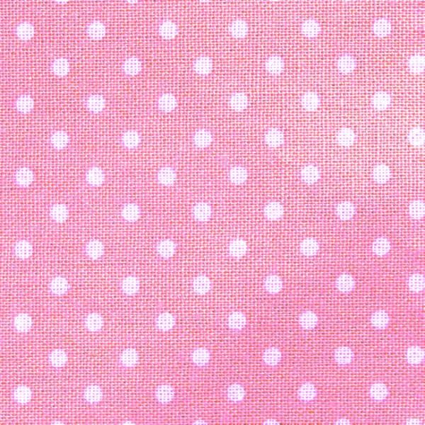 100 baumwolle stoffe tupfen punkte klein rosa weiss stoff breite 140cm neu ebay. Black Bedroom Furniture Sets. Home Design Ideas
