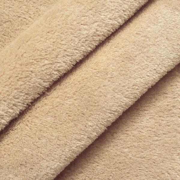 kuschelweicher wellness fleece stoff stoffe beige breite 150cm preis pro meter ebay. Black Bedroom Furniture Sets. Home Design Ideas